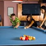 Man teaching pool — Stock Photo #2540615