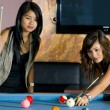 Women playing pool — Stock Photo #2540631