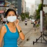 Face mask in bangkok — Stock Photo #2542368