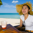 Asian beauty at the beach — Stock Photo