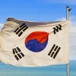 South korean flag — Stock Photo