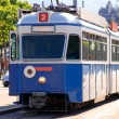A tram in zurich — Stock Photo
