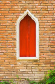 Old brickwall with window — Stock Photo