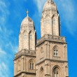 Grossmuenster towers in zurich — Stock Photo