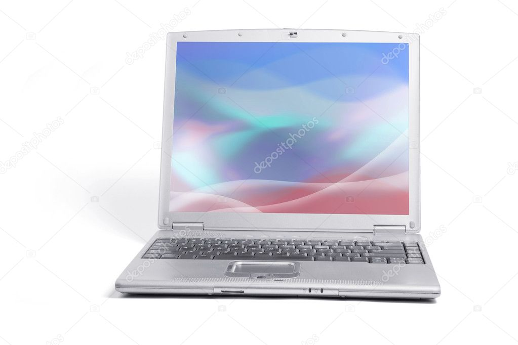Laptop Computer on Isolated White Background — Stock Photo #2464585