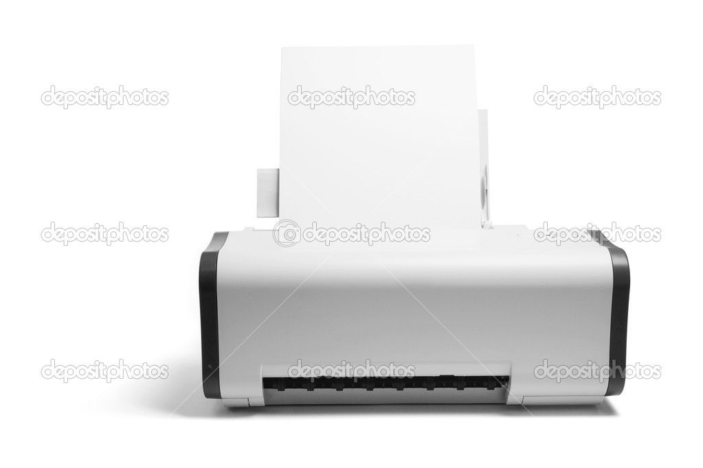 Printer on Isolated White Background — Stock Photo #2464607