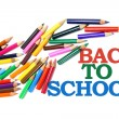 Back to School and Color Pencils — Stok Fotoğraf #2496598