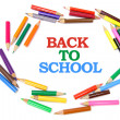 Back to School and Color Pencils — Stock Photo #2496601