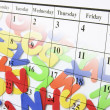 Calendar Page and Alphabets — Stock Photo #2496656