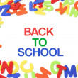 Back to School and Alphabets — Stock Photo