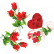 Gift Boxes and Red Roses — Stock Photo