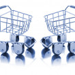 Miniature Shopping Trolleys - Stock Photo