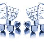 Miniature Shopping Trolleys — Stock Photo #2497547