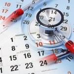 Calendar and Stethoscope — Stock Photo