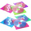 Compact Discs in Plastic Cases — Stock Photo