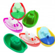Stockfoto: Plastic Toy Boats