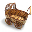 Miniature Wickerwork Pram — Stock Photo