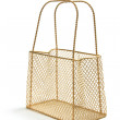 Wire Mesh Carry Basket — Stock Photo