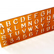 Alphabet Stencil — Stock Photo
