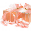 Box of Gift Ribbons — Stock Photo