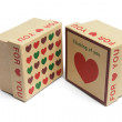 Love Heart Gift Boxes — Stock Photo