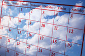Calendar and Clouds — Stock Photo