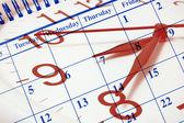 Klok en kalender — Stockfoto