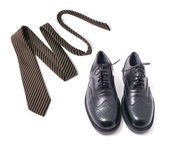 Necktie and Shoes — Stock Photo