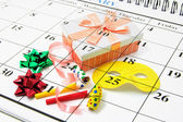 Kalender und party favors — Stockfoto