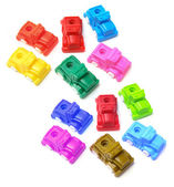 Plastic Toy Cars — Stock Photo