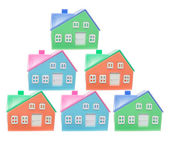 Plastic Miniature Houses — Stock Photo