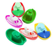 Plastic Toy Boats — Stock Photo