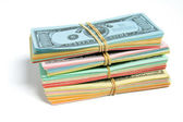 Stack of Game Banknotes — Stock Photo