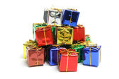 Stack of Gift Parcels — Stock Photo