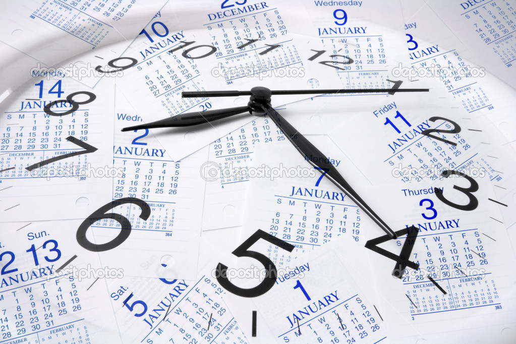 Calendar Pages and Clock — Stock Photo © newlight #2497929