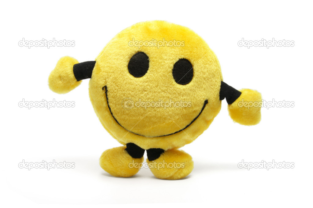 Smiley Soft Toy on White Background — Stock Photo #2498364