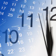 Stock Photo: Clock and Calendar Pages