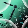 Clock and Calendar Pages - Stockfoto