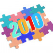 2010 and Puzzle Pieces — Stock Photo