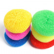 Round Nylon Scourers — Stock Photo