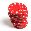 Stack of Poker Chips — Stock Photo