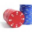 Stacks of Poker Chips — Stock Photo