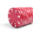 Stock Photo: Stack of Poker Chips
