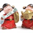 Stock Photo: God of Wealth Figurines
