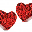 Red Roses in Gift Boxes - Stock Photo