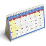 calendário de mesa — Foto Stock