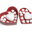 Love Hearts in Gift Box — Stock Photo