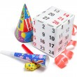 Stock Photo: gift box and party favors