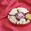 Stock Photo: Box of Chinese New Year Delicacies