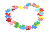 Jigsaw Puzzle Pieces — Stock Photo